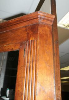 Farmhouse Cherry Wood Corner Cabinet Display Bookcase