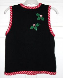 Hilarious Reindeer Bells Bows Ugly Christmas Sweater Vest Mens Womens
