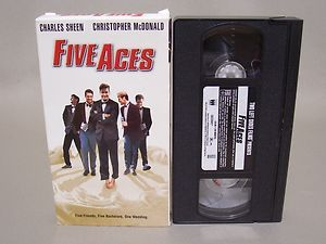 Five Aces VHS Charles Charlie Sheen Christopher McDonald 1998