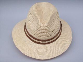 Christys Handmade Safari Styled Vented Crown Straw Hat