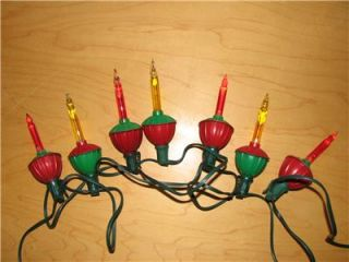 Vintage Noma Christmas Tree Bubble Lights 7 Light String