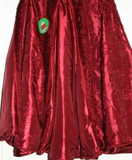 Christmas Tree Skirt Deep Red 68 Fully Line Large Christmas Tree