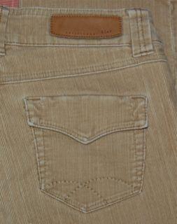 CHRISTOPHER BLUE Tan Cords Corduroy 2 Stretch Pants Flaps Size 8 30x32