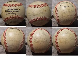 SAN FRANCISCO GIANTS AUTOGRAPHED ONL CHARLES FEENEY RAWLINGS BASEBALL