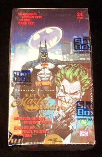 1996 Skybox Batman Master Series Trading Card Box 24 Packs