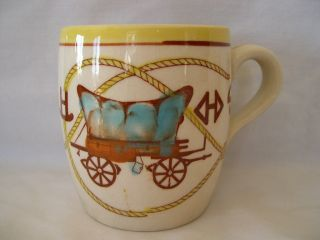 Western Theme Coffee Mug Chuck Wagon Brands by Fred Roberts