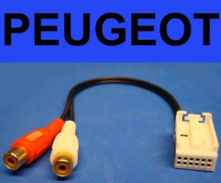 Peugeot Citroen 12 Pin RCA Audio Aux Input  iPod XM