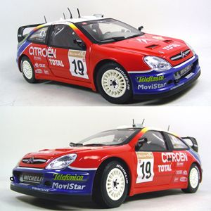 Sun Star Citroen Xsara WRC Rally Evolved Diecast Toy Racing Car Scale