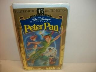 New sealed   Walt Disney   Peter Pan   VHS Kids Movie   45th