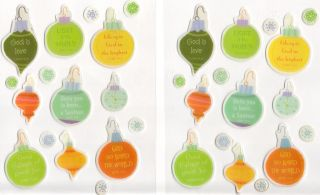 Love Bible Scripture Church Christmas Ornaments Epoxy Stickers