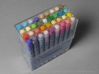 Copic Ciao Marker Set 36 C Brush Chisel Tip Markers in Clear Case