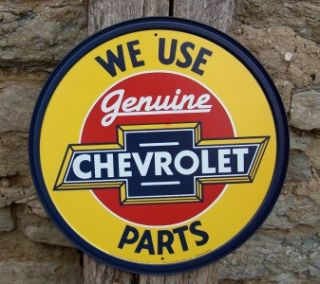 Antique Style Use Chevy Chevrolet Car Parts Metal Sign Ad Retro Decor
