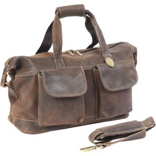 ClaireChase Versailles Distressed Leather Duffle Bag