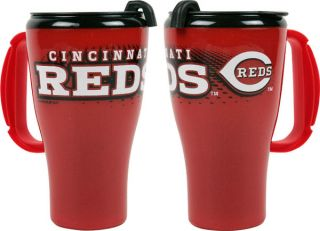 cincinnati reds 16 oz plastic roadster travel mug