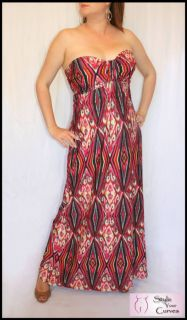 Chic NEW Long Red Pink Black Strapless Party Evening Maxi City Dress