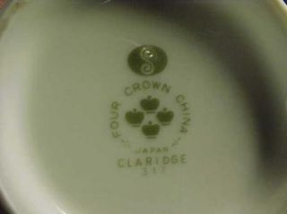 This is a lovely Four Crown China Claridge #317 Creamer. It is in