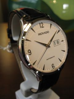 NEW Movado Circa SOLID 18k WHITE GOLD Automatic Mens Big Date Watch
