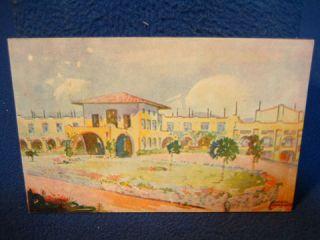 Hotel Chula Vista. Cuernavaca, Mexico. Fine vintage WWII era postcard