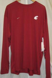 washington state cougars dri fit shirt 3xl burg ls