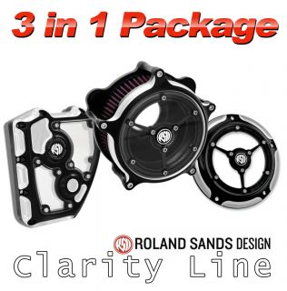 Roland Sands Design Clarity Package Contrast Cut for Harley Twin Cam