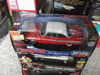 18 ERTL American Muscle 1958 PLYMOUTH FURY CHRISTINE Joyride Movie Car