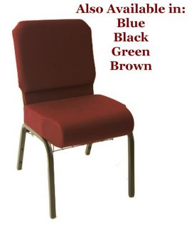 Church Chairs Burgundy NEW Stackable w Pocket Prime Collection SAVE ON