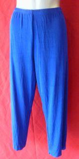 CHICOS TRAVELERS Blue Cardigan Slinky Jacket Top & Pants 2 L Set