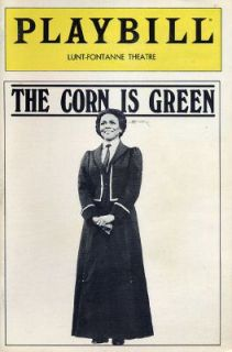 1983 PLAYBILL THE CORN IS GREEN WITH CICELY TYSON