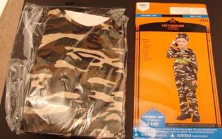 New NIP Halloween Costume Army Commando Helmet Canteen Walkie Talkie 7