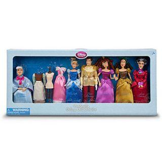 Disney Cinderella Doll Gift Set w/ 6 Poseable Dolls 2 Dresses & Dress