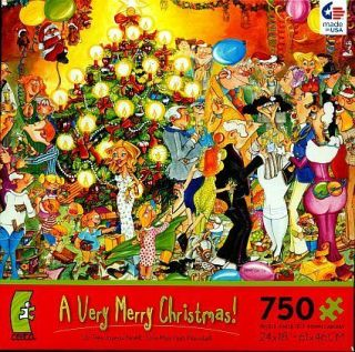 Christmas Tree Party Presents Kids Cartoon Puzzle 2986 5 New