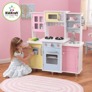New Childrens Kids Wooden Wood Pretend Play Master Cooks Kitchen