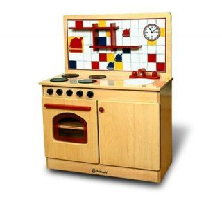Kids Toddler Pretend Play Wooden Toy Kitchen 26