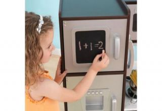 Uptown Childrens Kids Wooden Pretend Play Kitchen Espresso