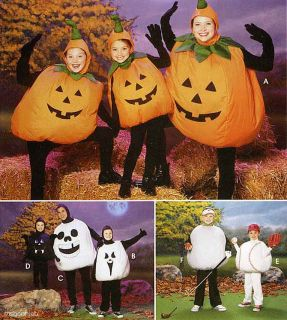 Adult Childs Ball Costumes Pattern Pumpkin Ghost