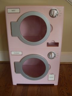 Pottery Barn Kids Play Kitchen Washer Dryer Retro Set Discontinued