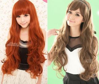 Clair Beauty Cosplay Womens Long Curly Full Hair Wig Cap 3Colors S0060