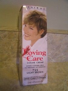 NEW Clairol Loving Care Hair Color Creme #755 Light Brown Level 1