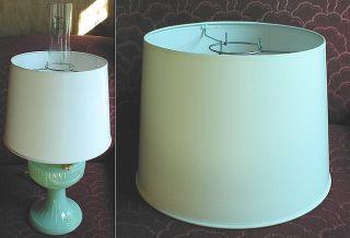 12 Aladdin Oil Lamp Parchment Shade Chimney Mount Ivor