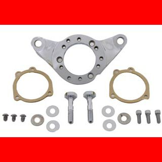 Chrome Air Cleaner Support Bracket & Breather Kit for Harley Twin Cam