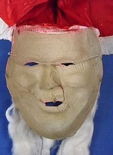 CM18 * CHRISTMAS SANTA CLAUS MASK * PAPIER MACHE * ANTIQUE GERMAN