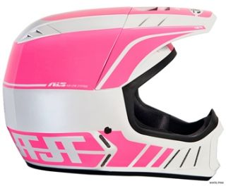 JT Racing ALS2 Full Face Helmet   White/Pink 2012