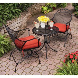 Clayton 3 Piece Outdoor Patio Bistro Set Home Garden Furniture Chairs