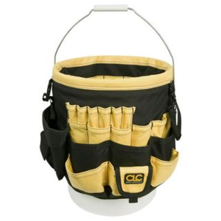CLC 61 Pocket 3 5 to 5 Gallon Bucket Tool Bag Organizer