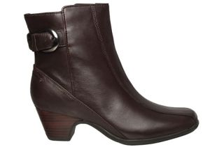 Clarks Artisan Womens Boots Dara III Dark Brown Leather 85961 Sz 9 5 M