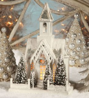 CHRISTMAS COLLECTIBLE LIGHTED VILLAGE CHURCH BETHANY LOWE DESIGNS