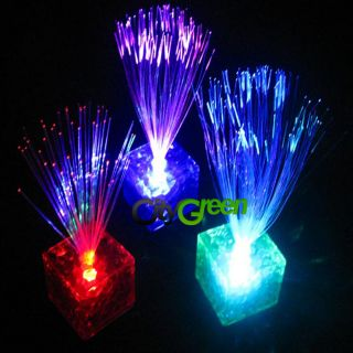 New Outstanding Cube Color Changing Optical Fiber LED Night Light 450