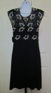 Chicos Soma Ciao Bella Chemise Short Black Gown Dress Size Small $69