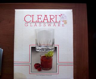 Crisa Clearly Glassware 8 oz Old Fashion 12 Piece Set Glasses Tumbler