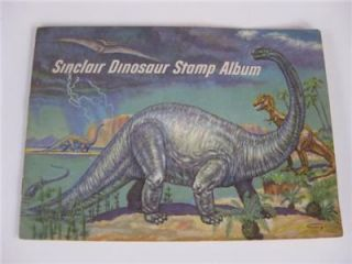 1959 Sinclair Gas Station Cicero Dinosaur Stamp Album